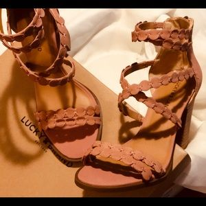 LUCKY BRAND Strap Heels.....NEVER BEEN WORN